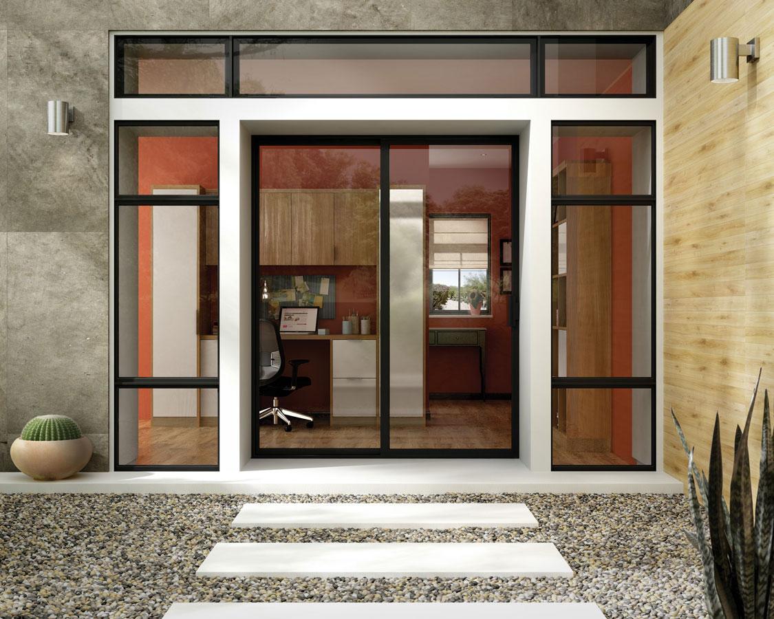Beautiful aluminum sliding door for an Okanagan home