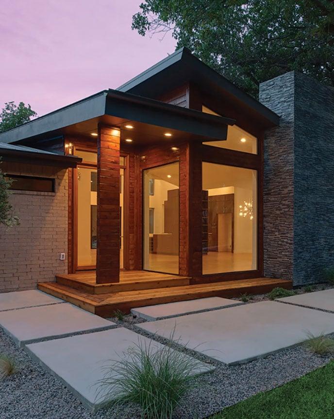 Aluminum windows on a modern house