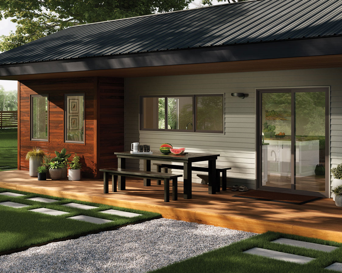 Farmhouse style sliding patio door