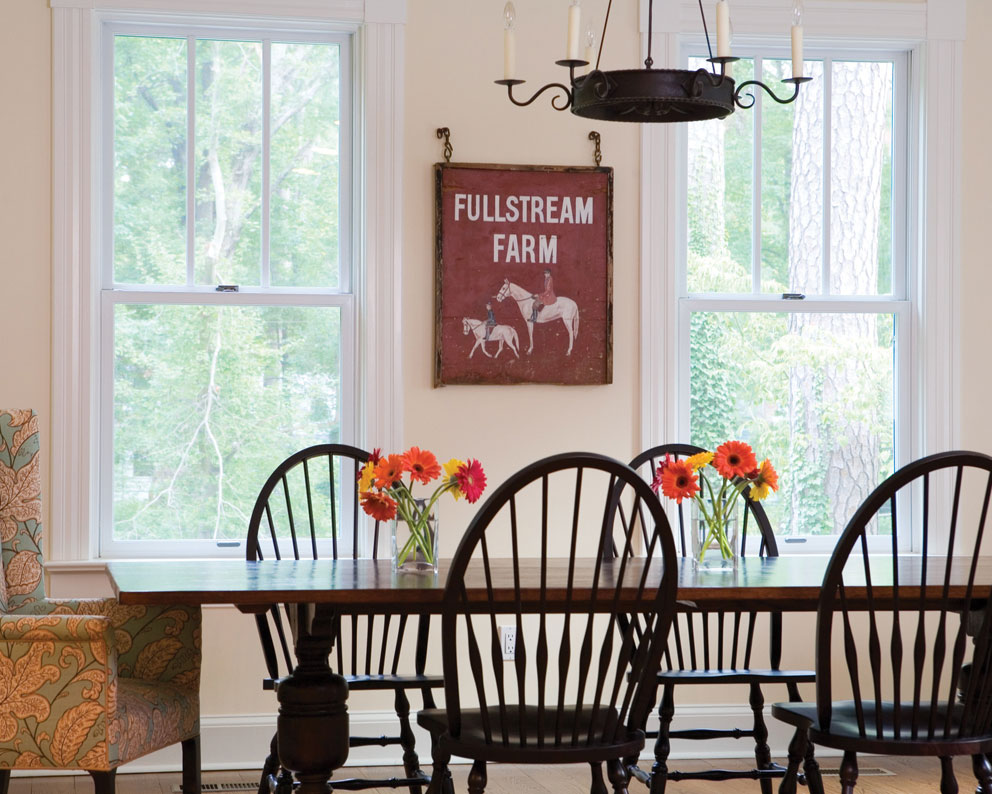 Fiberglass windows are a durable and beautiful addition to Okanagan dining rooms