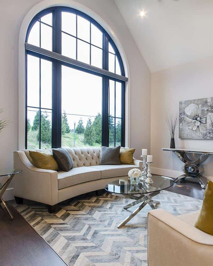 Add large Vinyltek windows to your living room for natural light