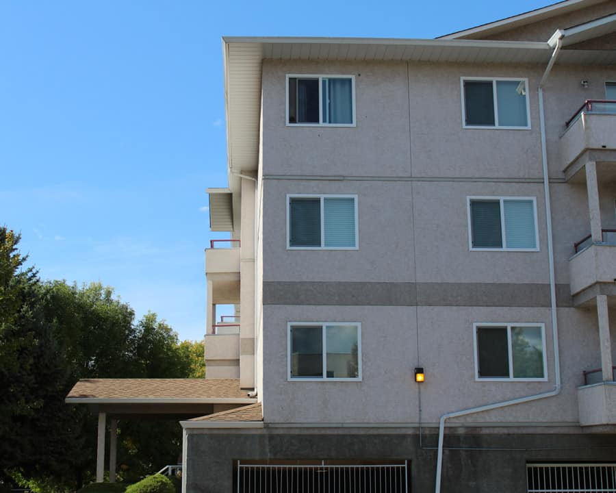 Upgraded windows in an Okanagan strata apartment building