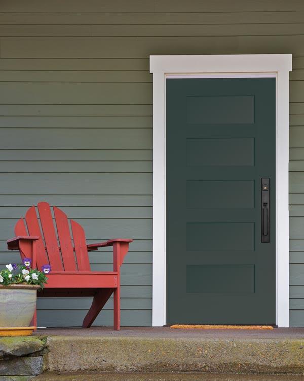 Modern wooden front entry door