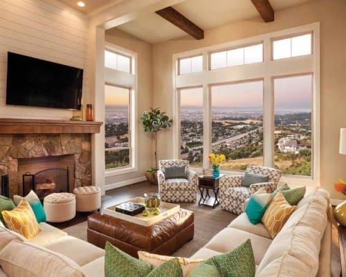 Vinyl windows look great in your living room and let you enjoy Okananga views